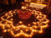 Diwali holiday lights. Prits Gosal. Pinterest.