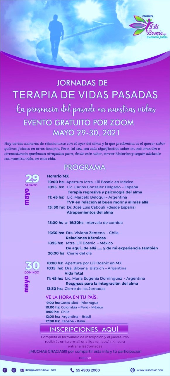 Past Life Therapy Workshop. May 29-20, 2021.